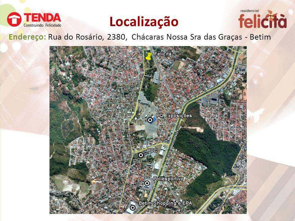 Endereço: Rua do Rosário, 2380, Chácaras Nossa Sra das Graças - Betim Localização