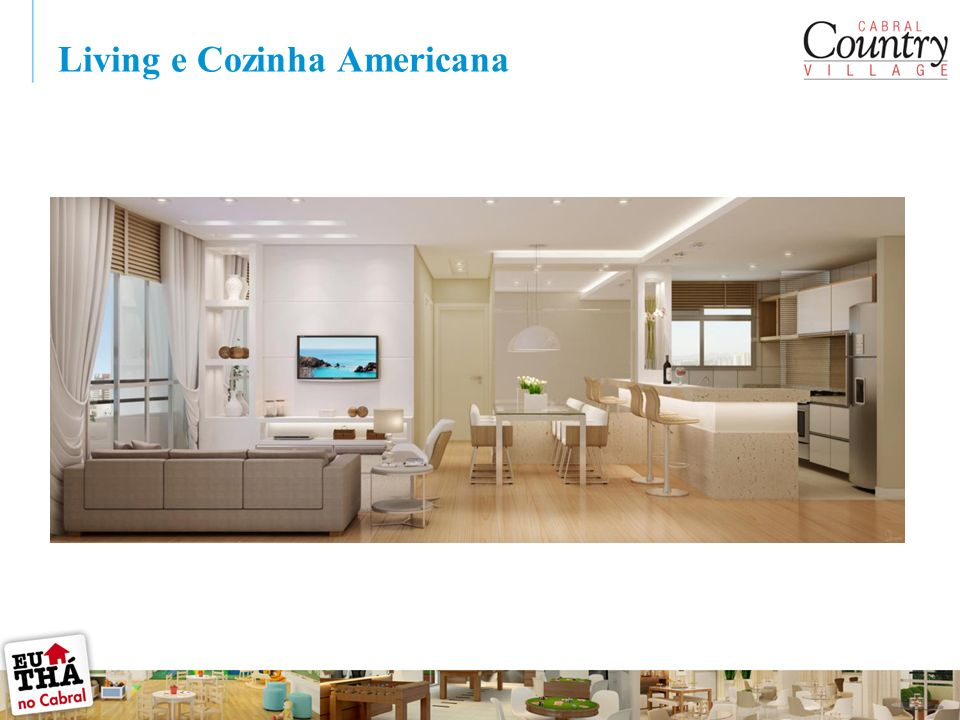 Living e Cozinha Americana