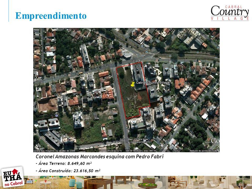 - Área Terreno: 8.649,60 m² - Área Construída: 23.616,50 m² Empreendimento Coronel Amazonas Marcondes esquina com Pedro Fabri