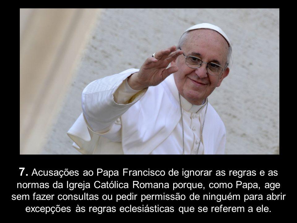 6. O Papa Francisco marginalizou os mais altos cargos do Vaticano na cerimónia do Lava-Pés da Quinta-Feira Santa. (Quebrando tradições, o pontífice re