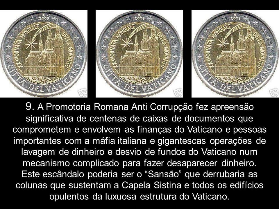 8. A organização Opus Dei proibiu (censurou) em todas as suas livrarias a venda do primeiro livro sobre o Papa Francisco, Troa.