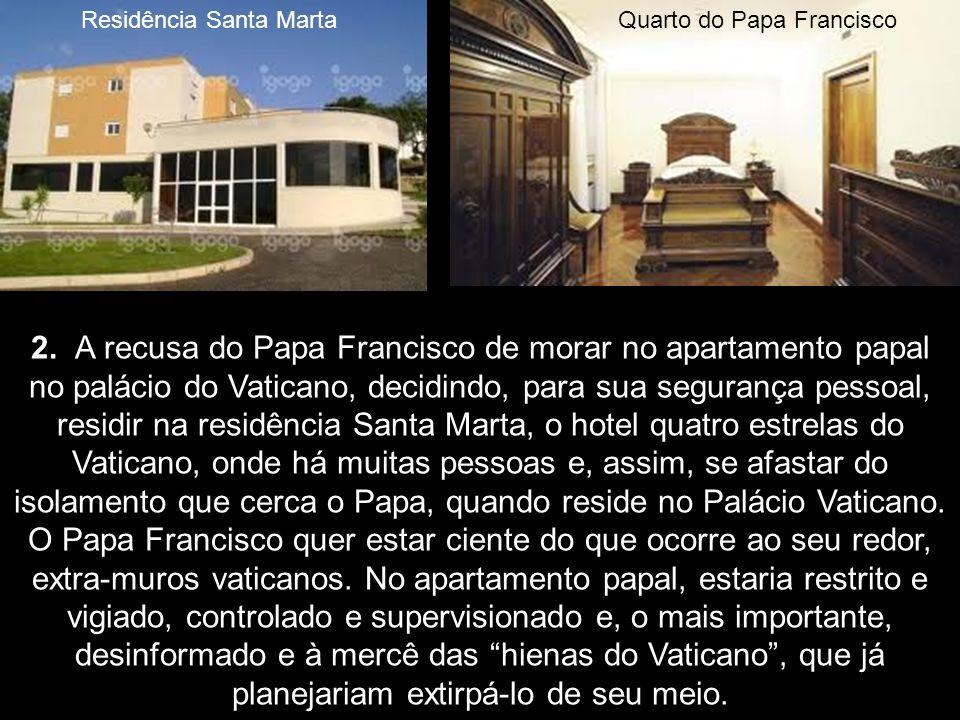 1. O Papa Francisco violou a tradição do Vaticano ao realizar a cerimónia do Lava-Pés, na Quinta-Feira Santa, fora do perímetro do Vaticano, em Roma,