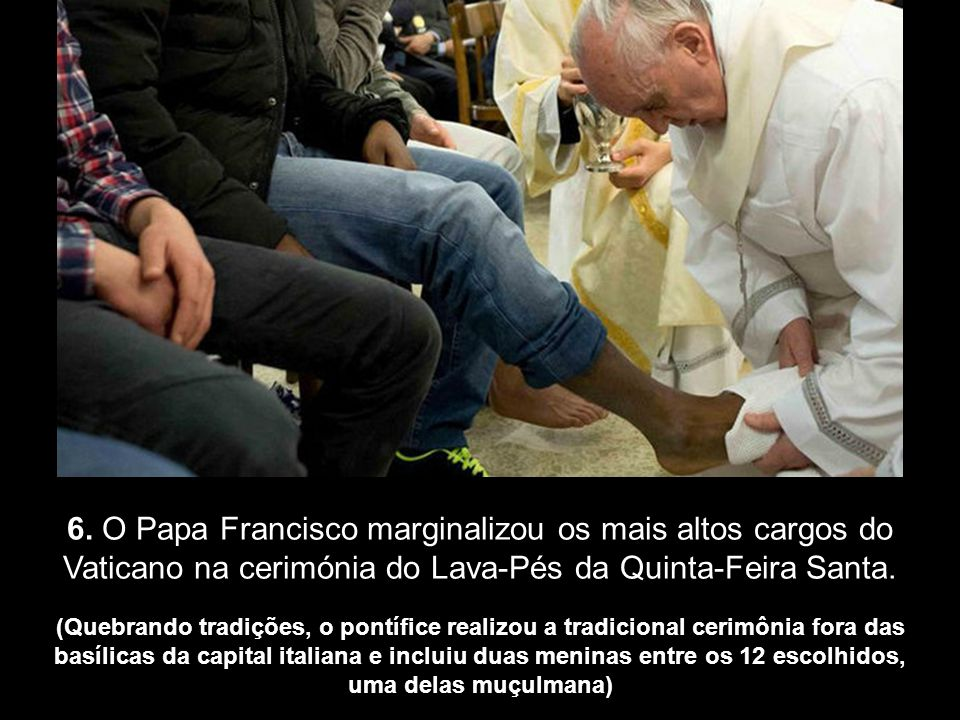 5. A Cúria Romana e o poder rechaçariam o apelo público feito pelo Papa à Igreja Católica para reforçar o diálogo e as relações com o Islão. Ele seria