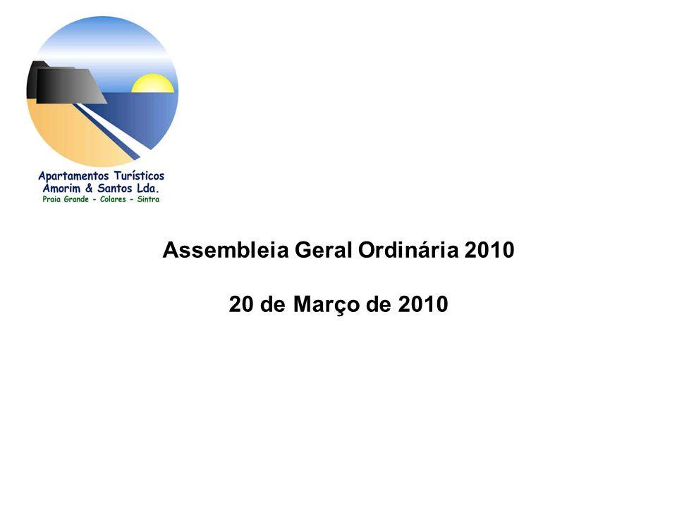 Assembleia Geral Ordinária 2010 20 de Março de 2010
