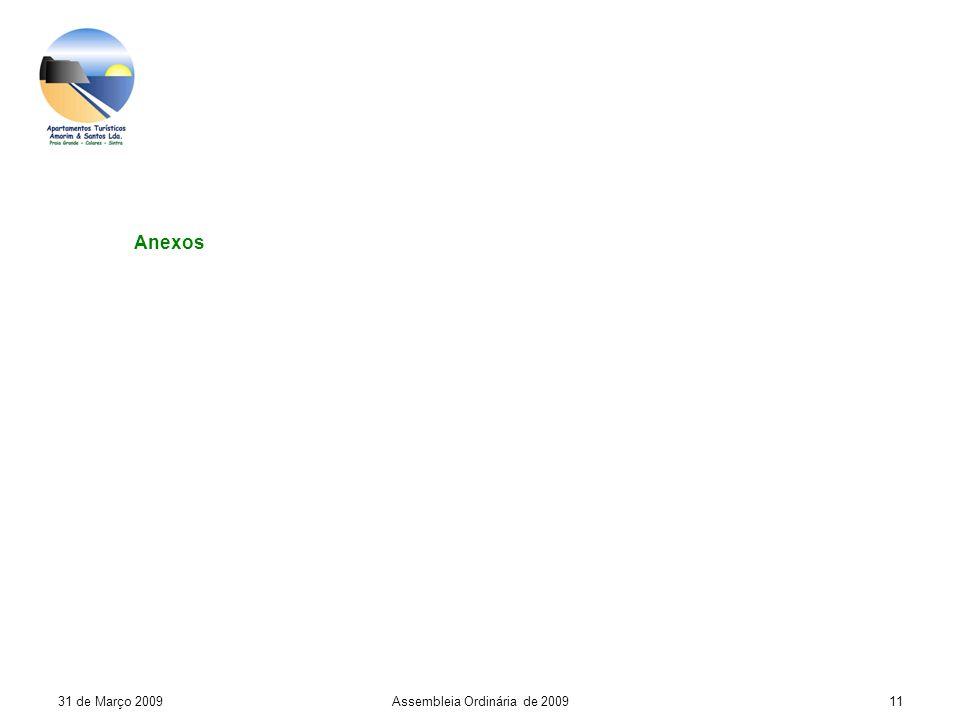 31 de Março 2009Assembleia Ordinária de 200911 Anexos