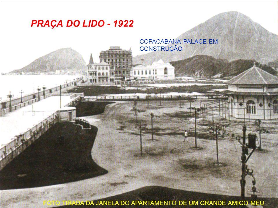 LEME - 1921 ESTA PEDRA É O MEIO-FIO DO CALÇADÃO DE HOJE E O DESENHO É SÍMBOLO DO RIO