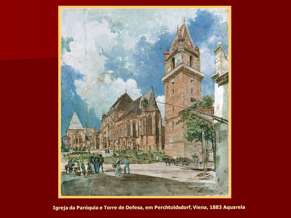 Sinagoga, Templo na cidade, 2.District, 1860 Litografia