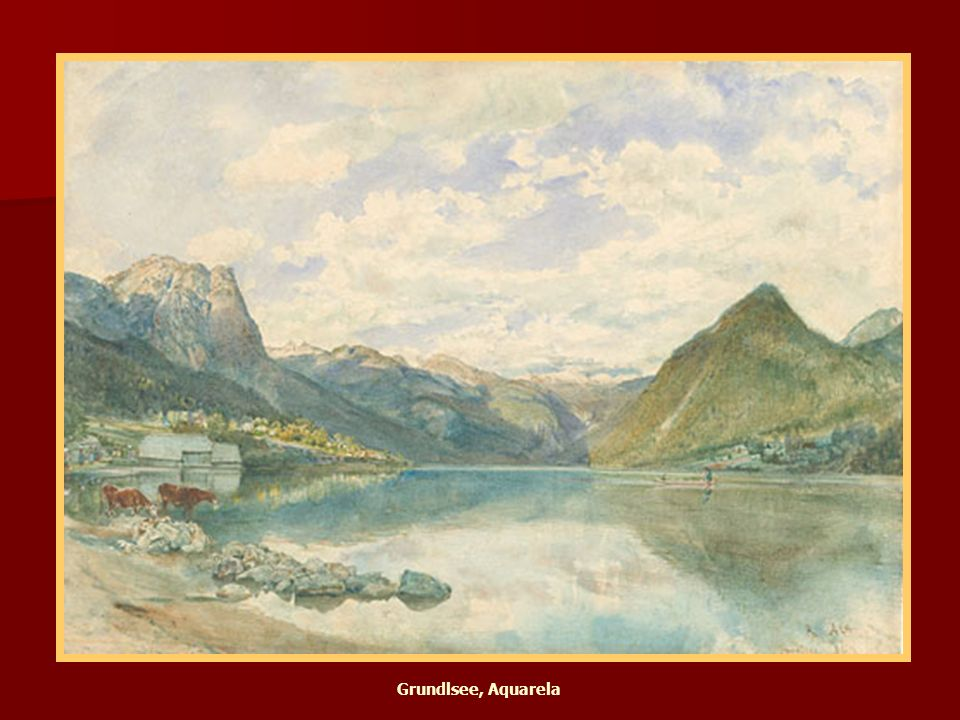 Attersee, 1859 Aquarela