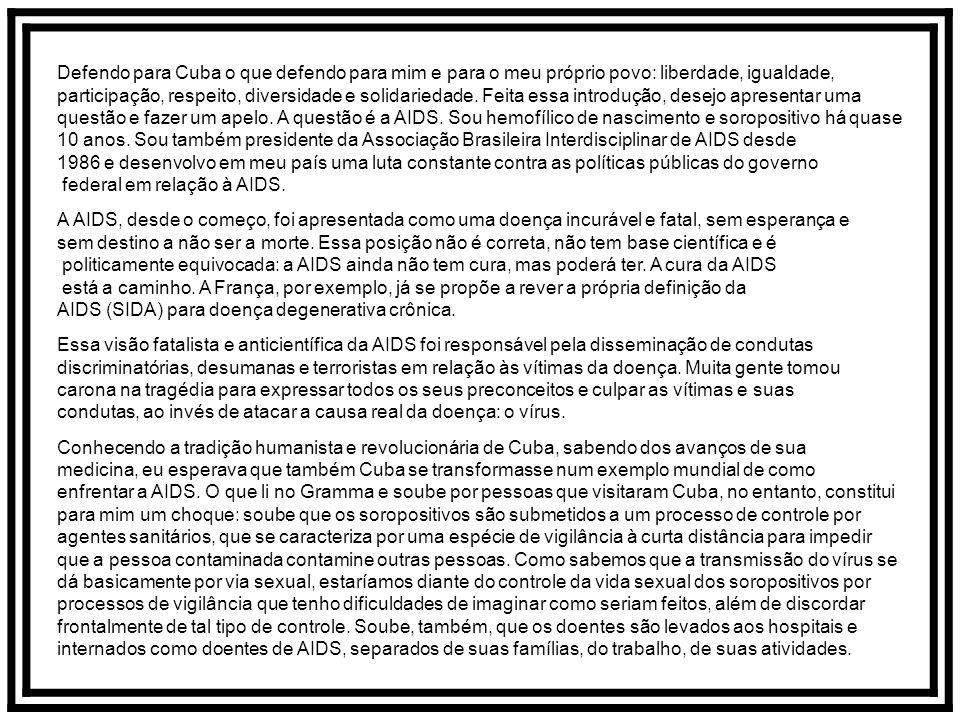 Carta contra o preconceito Na sexta-feira dia 08/02/92, às 23 horas, decola do Aeroporto Internacional de Guarulhos, em São Paulo, o Vôo da Solidaried