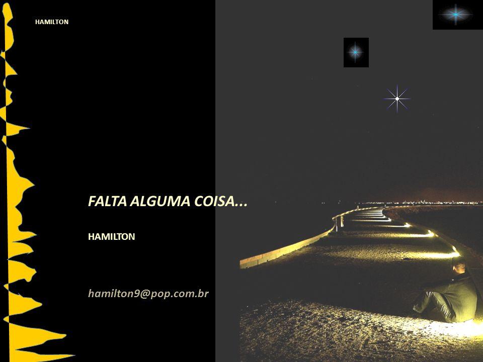 FALTA ALGUMA COISA... HAMILTON hamilton9@pop.com.br HAMILTON