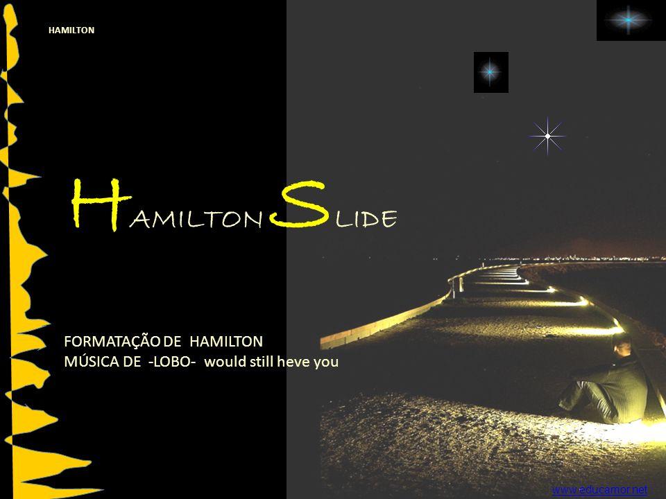 HAMILTON H AMILTON S LIDE FORMATAÇÃO DE HAMILTON MÚSICA DE -LOBO- would still heve you www.educamor.net