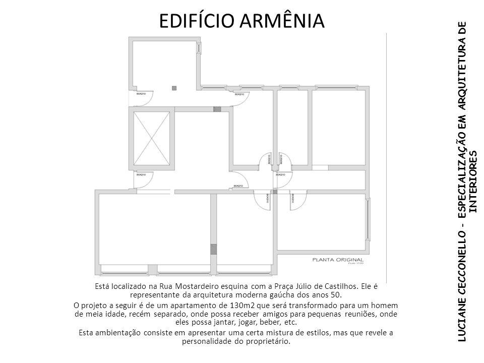EDIFÍCIO ARMÊNIA Está localizado na Rua Mostardeiro esquina com a Praça Júlio de Castilhos. Ele é representante da arquitetura moderna gaúcha dos anos