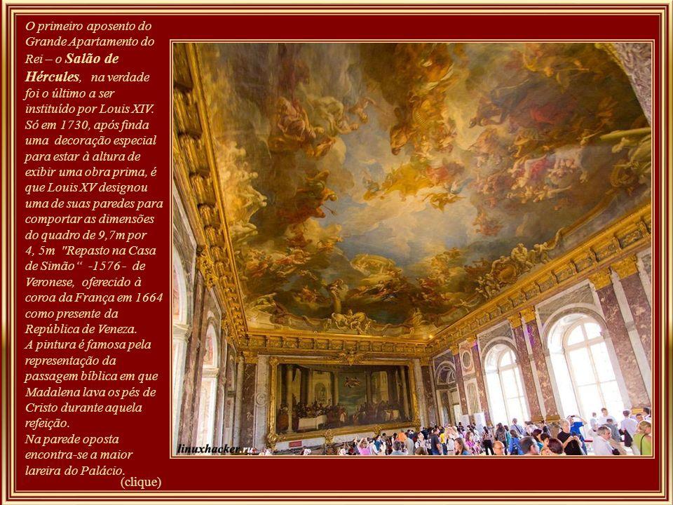 Grande Apartamento do Rei Esta série de sete salas de prestígio foi criada para servir como um apartamento de desfile, ou seja, como um local para ato