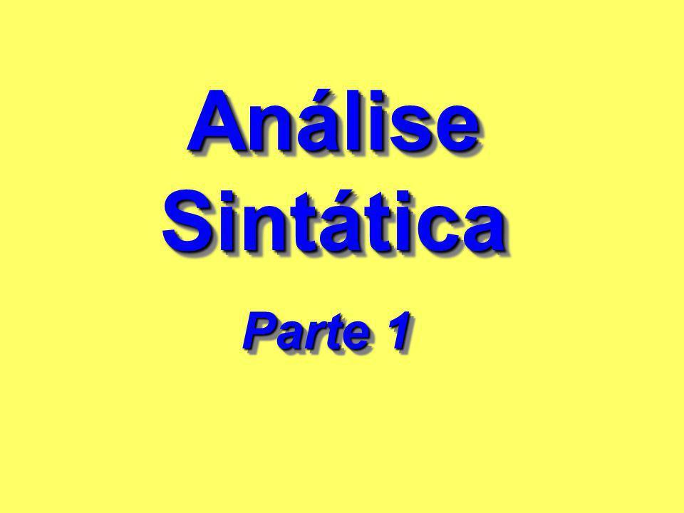 Análise Sintática Análise Sintática Parte 1 Parte 1