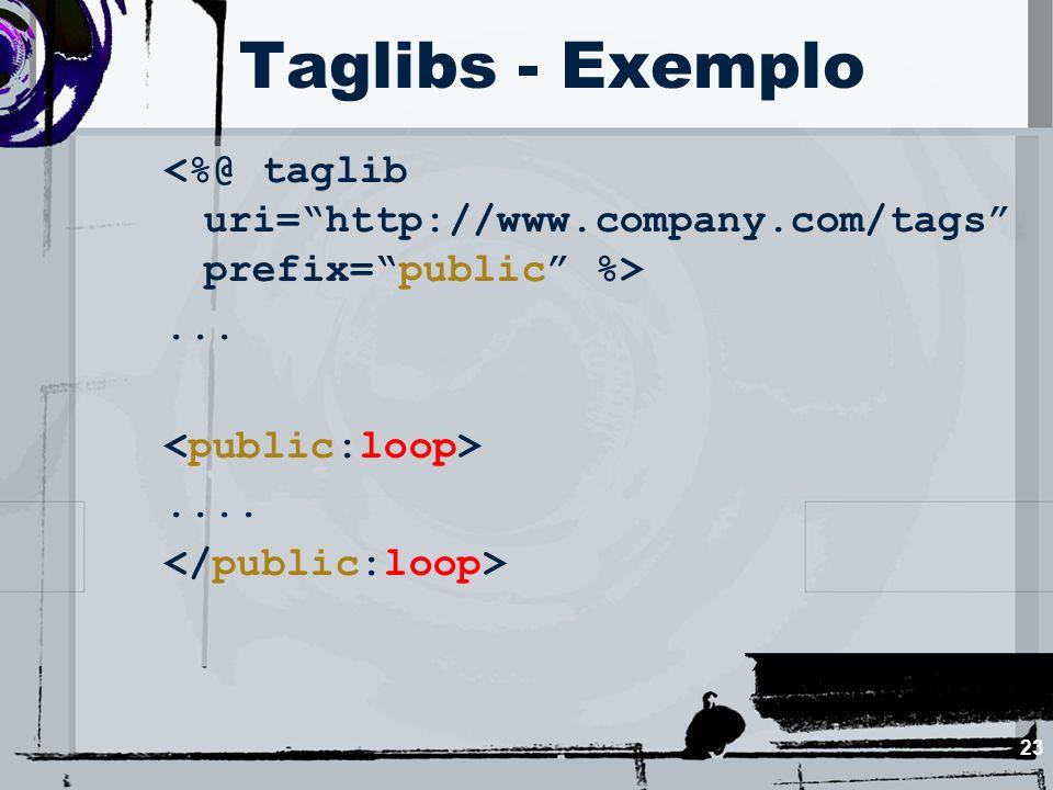 23 Taglibs - Exemplo.......