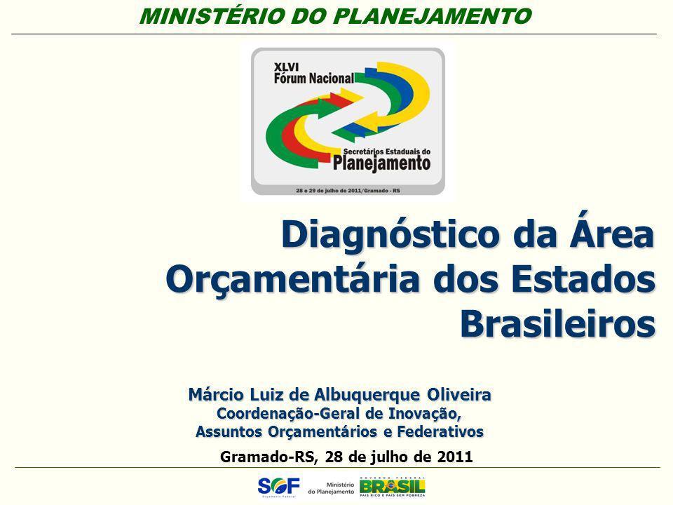 MINISTÉRIO DO PLANEJAMENTO Secretaria de Orçamento Federal – SOF Diagnóstico da Área Orçamentária dos Estados Brasileiros Gramado-RS, 28 de julho de 2