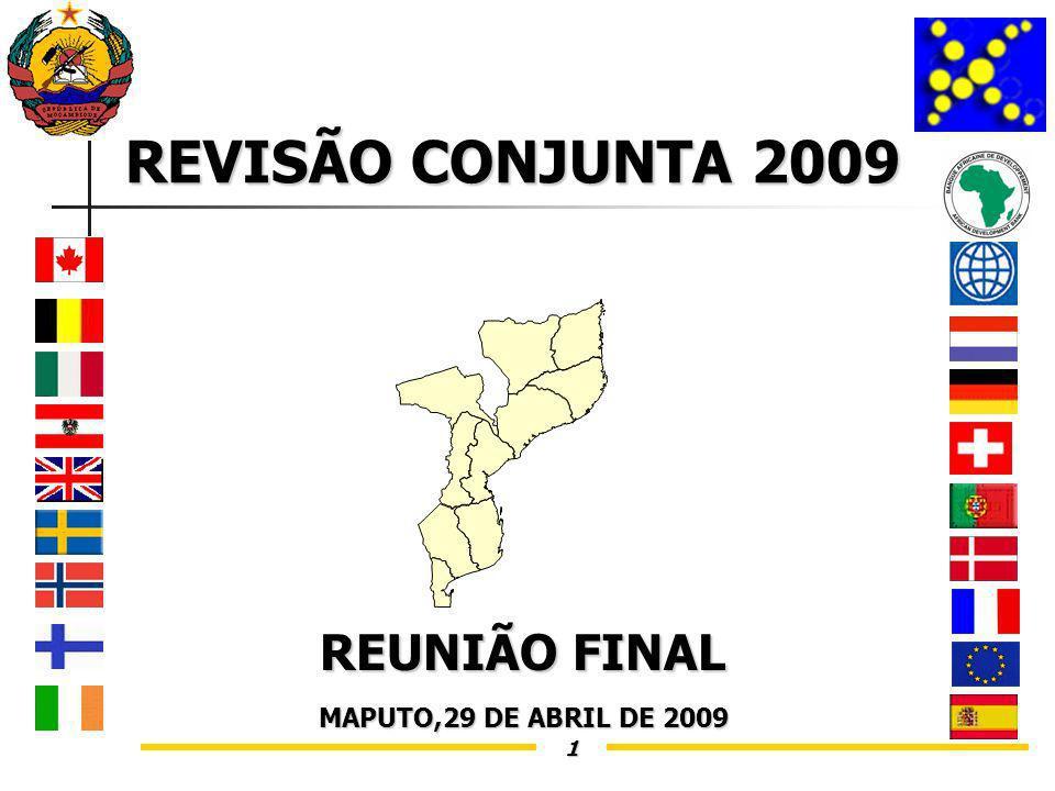 1 REVISÃO CONJUNTA 2009 REUNIÃO FINAL MAPUTO,29 DE ABRIL DE 2009