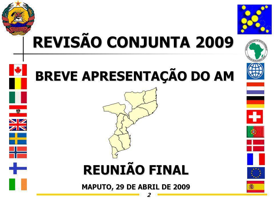 2 REVISÃO CONJUNTA 2009 BREVE APRESENTAÇÃO DO AM REUNIÃO FINAL MAPUTO, 29 DE ABRIL DE 2009
