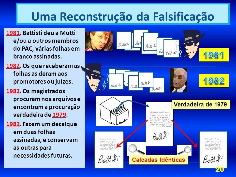 1981.Battisti deu a Mutti e/ou a outros membros do PAC, várias folhas em branco assinadas.