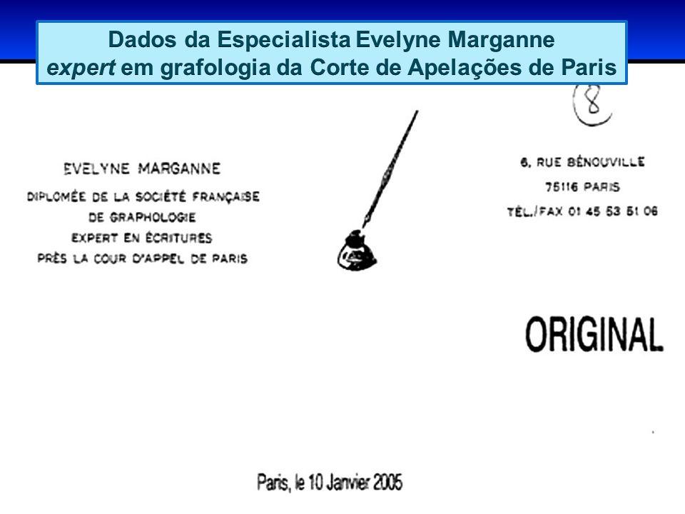 A especialista compara 3 assinaturas de Cesare Battisti: Uma é a do texto de 1990, a última procuração falsificada pelas autoridades.