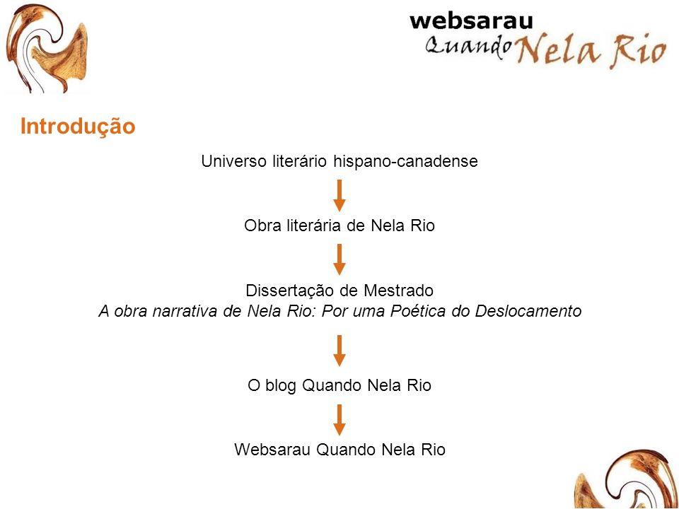 Proposta do websarau apresentar a obra literária da autora; promover leituras e interpretações da obra em diversas linguagens; criar um público brasileiro apreciador de Nela Rio; e propor interação e experimentação literária em meio virtual.