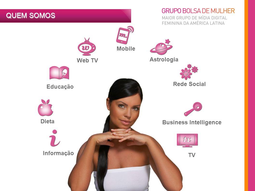 Web TV Mobile Astrologia Educação Dieta Informação Rede Social Business Intelligence TV QUEM SOMOS
