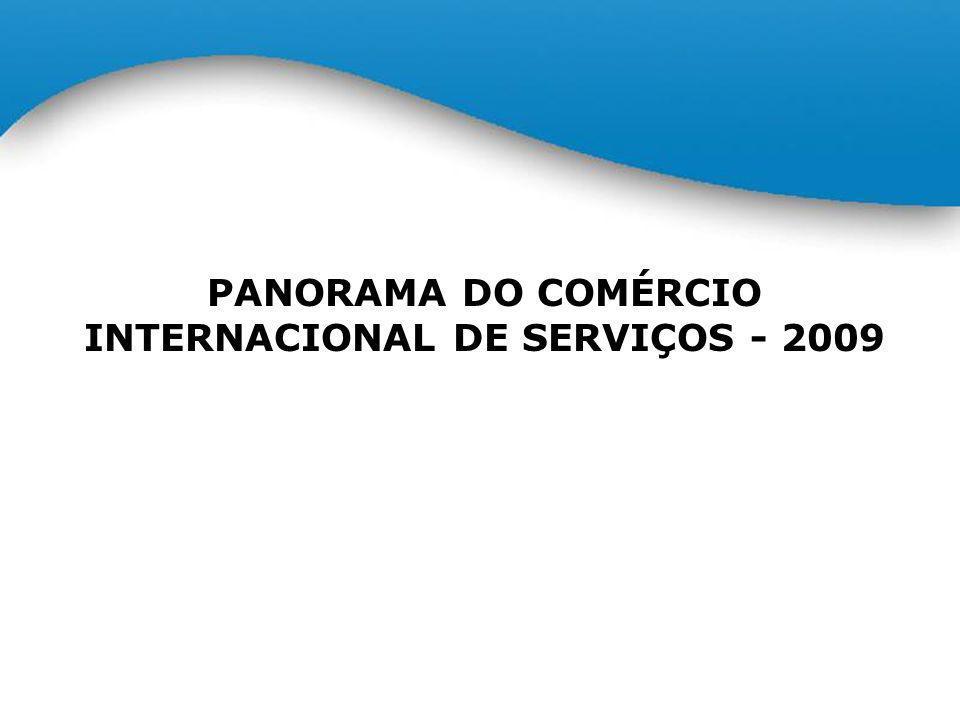 BALANÇA BRASILEIRA DE COMÉRCIO EXTERIOR DE SERVIÇOS* BRAZILIAN FOREIGN TRADE IN SERVICES BALANCE* Janeiro/Dezembro – January/December – 2009 – US$ bilhões / US$ billion *Dados deduzidos da conta de Serviços Governamentais.