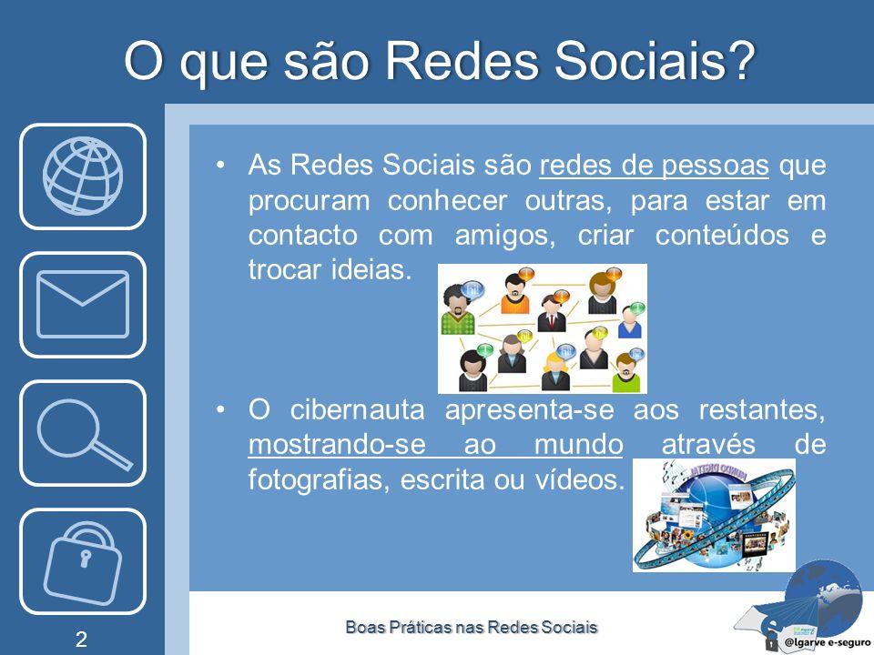 O que são Redes Sociais?O que são Redes Sociais? As Redes Sociais são redes de pessoas que procuram conhecer outras, para estar em contacto com amigos