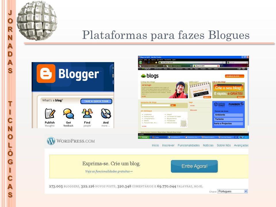 JORNADASTICNOLÓGICAS Breve caracterização da blogosfera da Escola Correia Mateus A Escola Correia Mateus tem, desde longa data, uma tradição de criação e manutenção de Blogues:
