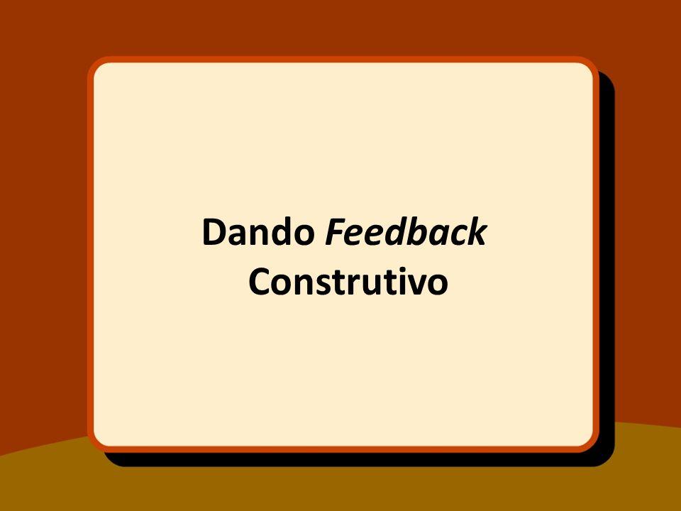 Dando Feedback Construtivo