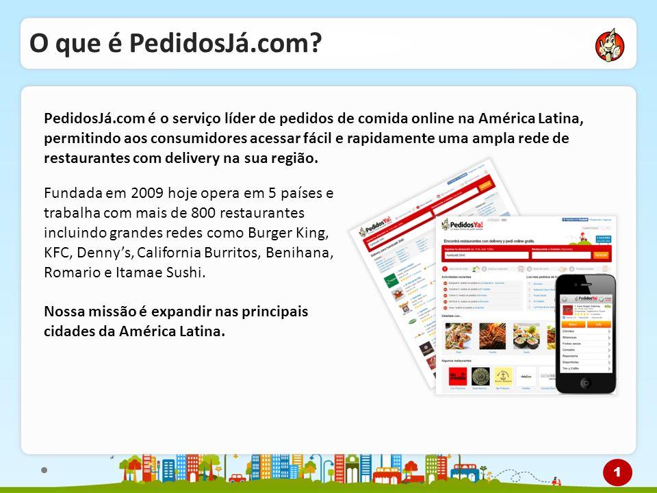 O que é PedidosJá.com? PedidosJá.com é o serviço líder de pedidos de comida online na América Latina, permitindo aos consumidores acessar fácil e rapi