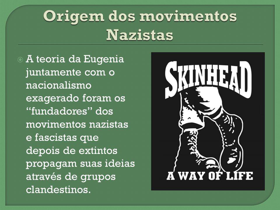 A teoria da Eugenia juntamente com o nacionalismo exagerado foram os fundadores dos movimentos nazistas e fascistas que depois de extintos propagam su