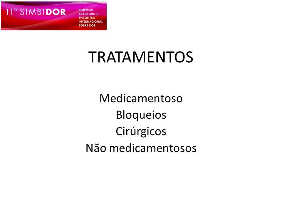 TRATAMENTOS Medicamentoso Bloqueios Cirúrgicos Não medicamentosos