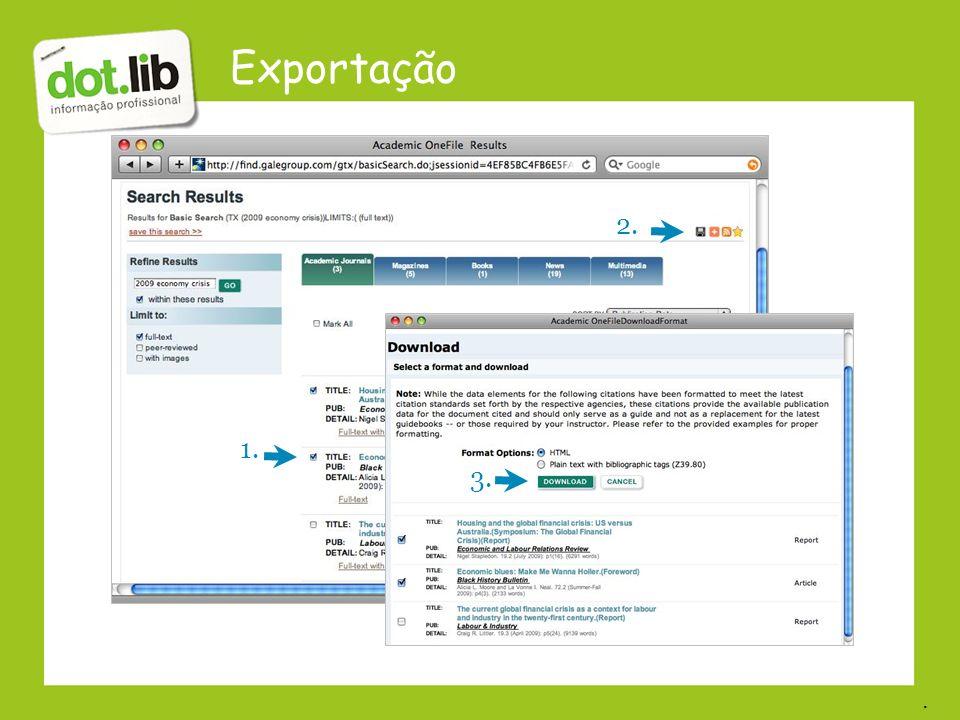 Exportação 2. 1. 3..