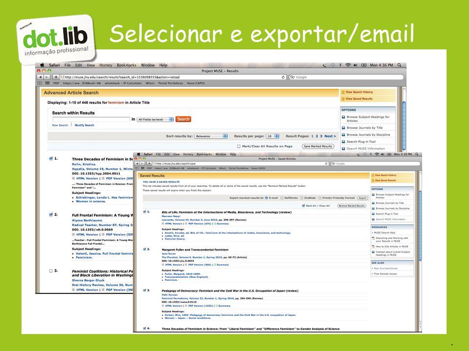 Selecionar e exportar/email.