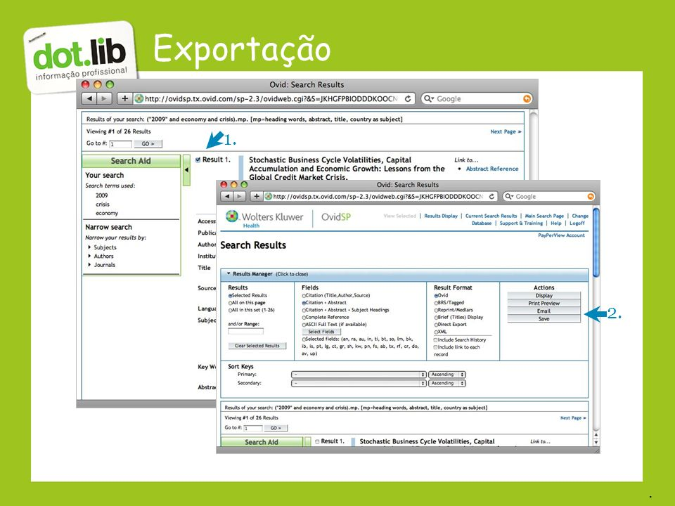 Exportação 2. 1..