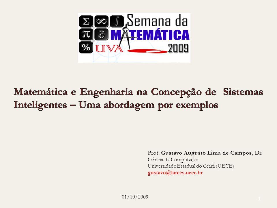 1 Prof. Gustavo Augusto Lima de Campos, Dr. Ciência da Computação Universidade Estadual do Ceará (UECE) gustavo@larces.uece.br 01/10/2009