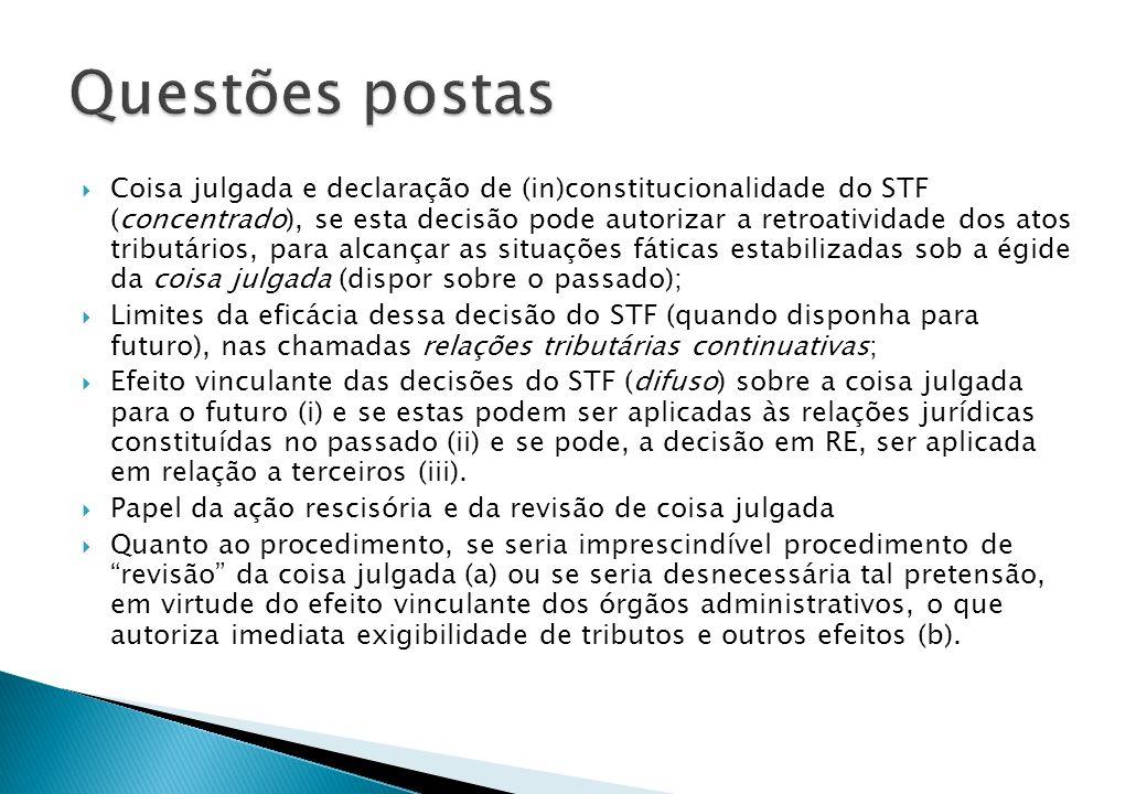 Art.27 da Lei 9.868/1999 mitiga o efeito ex tunc das decisões do STF.