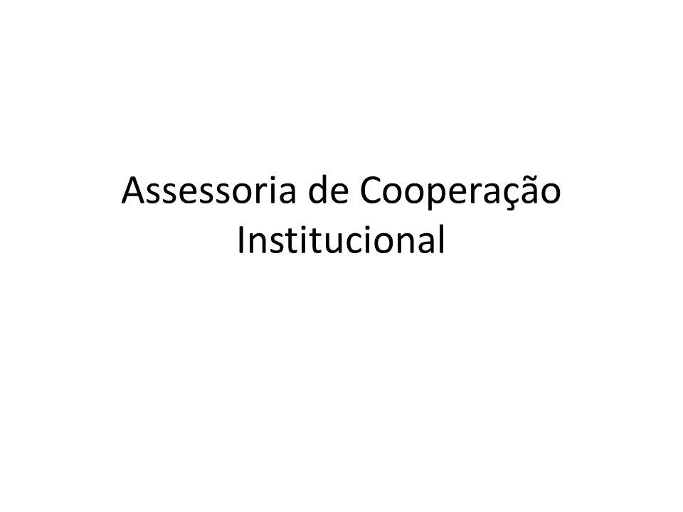Objetivos Tem como objetivo formular a política de internacionalização da instituição, promover a dinamização e expansão de sua atuação internacional, assessorar o reitor em assuntos de sua competência, bem como as unidades de ensino e pesquisa, na área de cooperação acadêmica internacional.