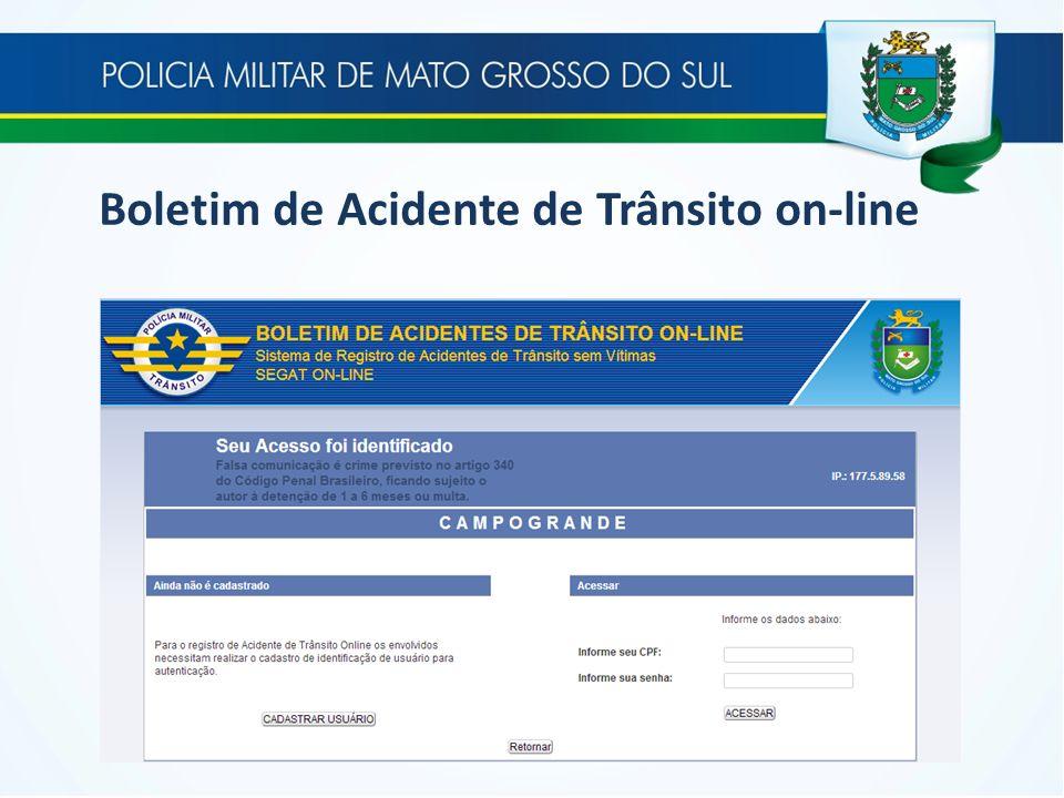 Boletim de Acidente de Trânsito on-line