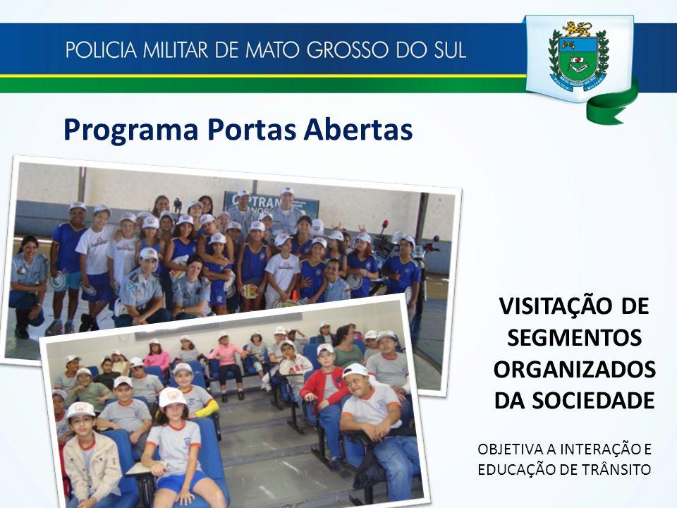 VISITAÇÃO DE SEGMENTOS ORGANIZADOS DA SOCIEDADE OBJETIVA A INTERAÇÃO E EDUCAÇÃO DE TRÂNSITO Programa Portas Abertas