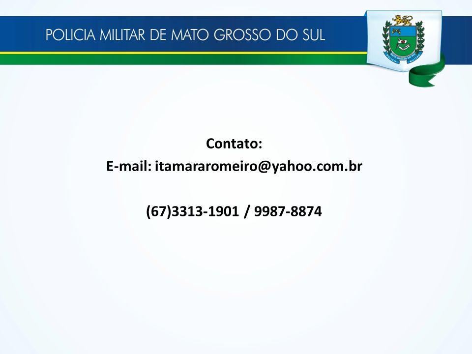 Contato: E-mail: itamararomeiro@yahoo.com.br (67)3313-1901 / 9987-8874