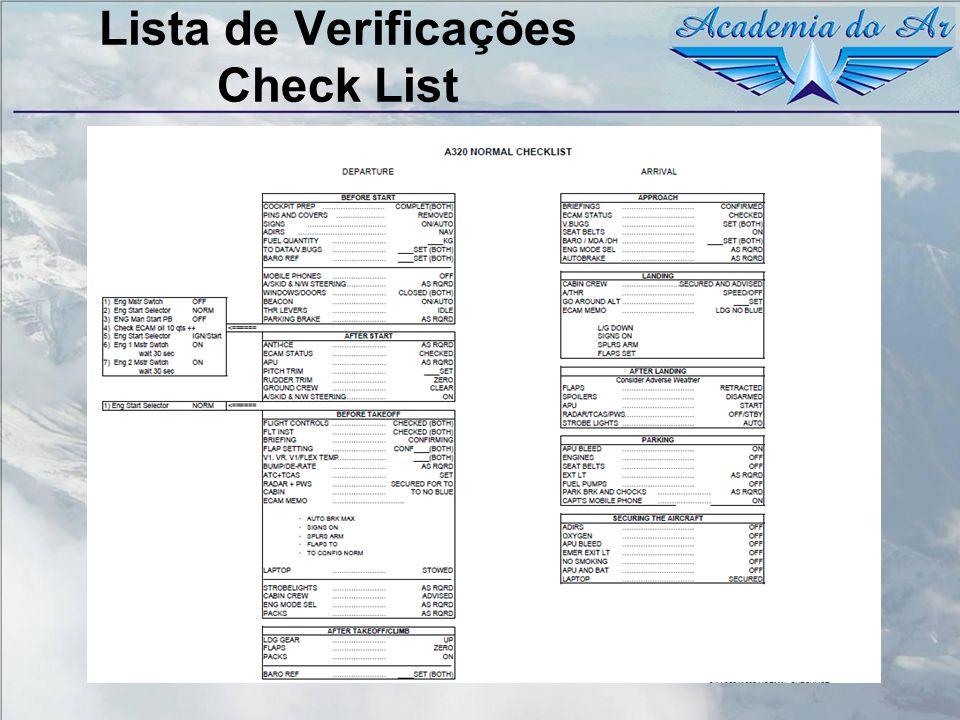 Lista de Verificações Check List
