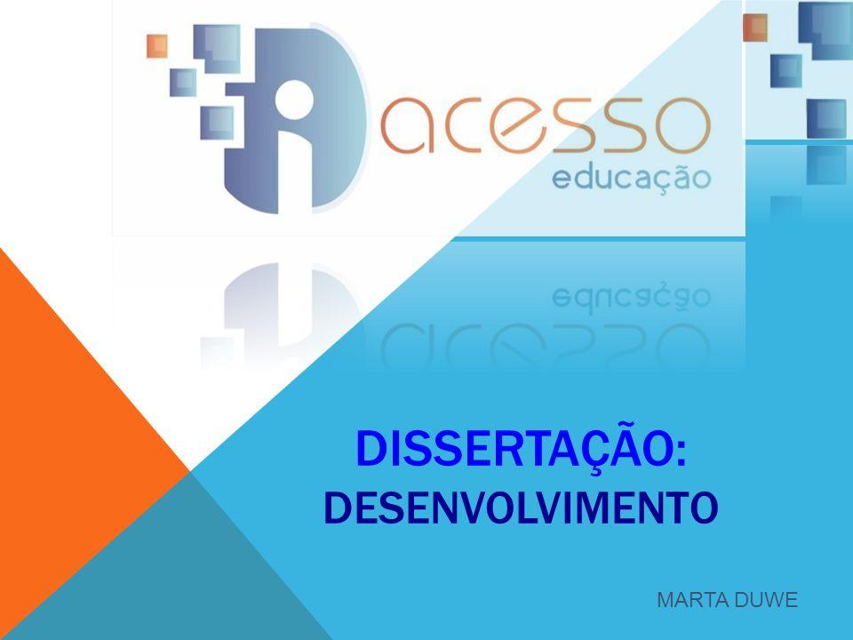 DISSERTAÇÃO: DESENVOLVIMENTO MARTA DUWE