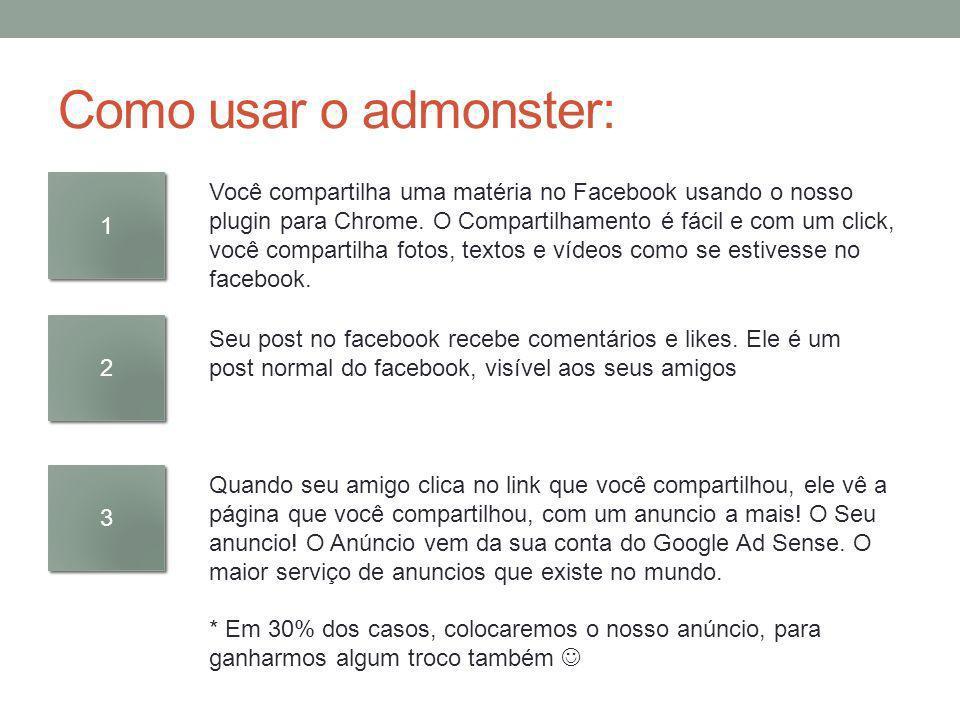 1 1 Você compartilha uma matéria no Facebook usando o nosso plugin para Chrome. O Compartilhamento é fácil e com um click, você compartilha fotos, tex