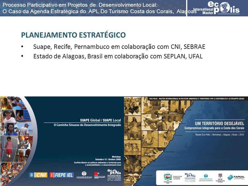 PLANEJAMENTO ESTRATÉGICO Suape, Recife, Pernambuco em colaboração com CNI, SEBRAE Estado de Alagoas, Brasil em colaboração com SEPLAN, UFAL Processo P