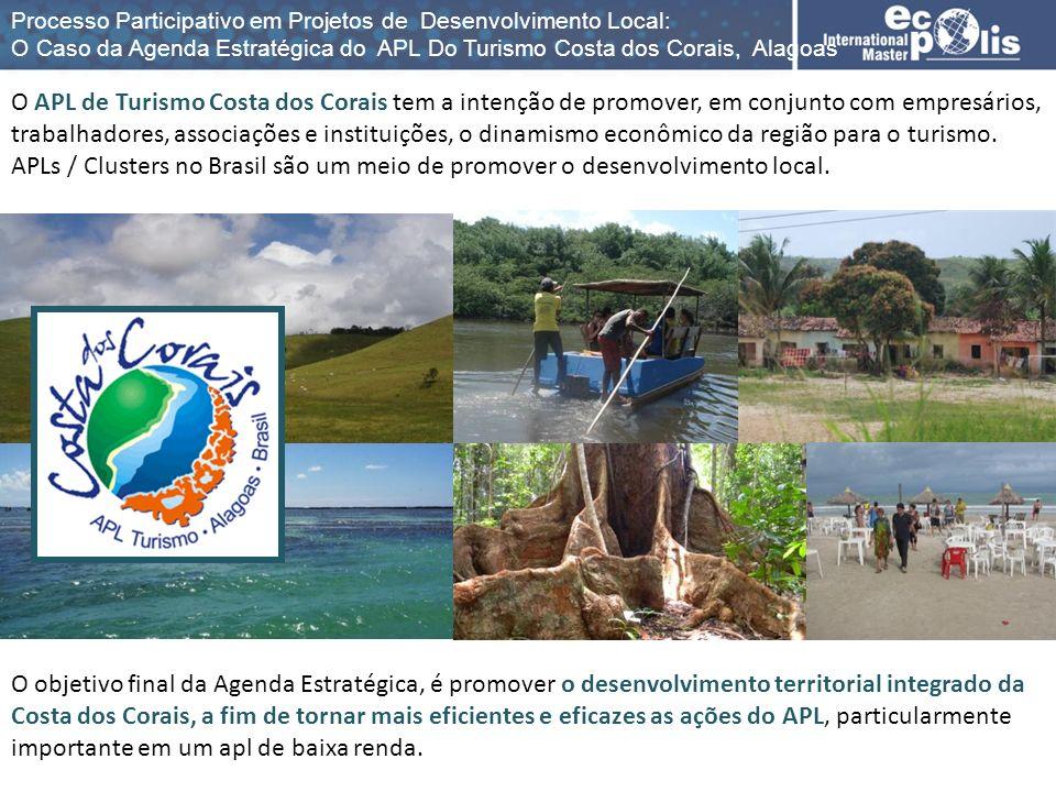 O objetivo final da Agenda Estratégica, é promover o desenvolvimento territorial integrado da Costa dos Corais, a fim de tornar mais eficientes e efic