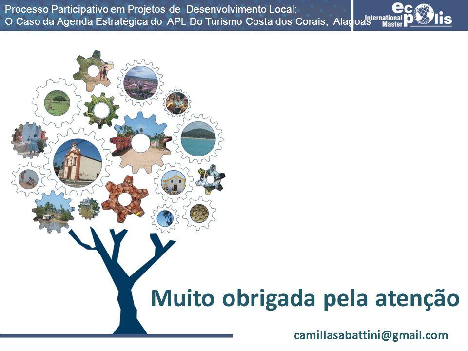 Processo Participativo em Projetos de Desenvolvimento Local: O Caso da Agenda Estratégica do APL Do Turismo Costa dos Corais, Alagoas Muito obrigada p