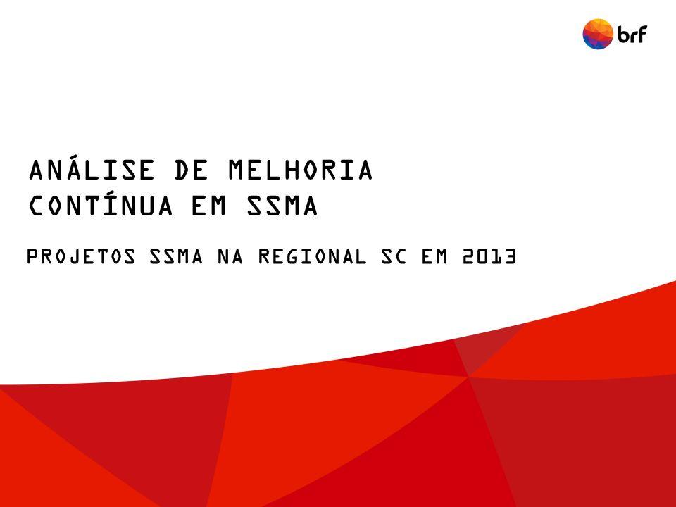 ANÁLISE DE MELHORIA CONTÍNUA EM SSMA PROJETOS SSMA NA REGIONAL SC EM 2013