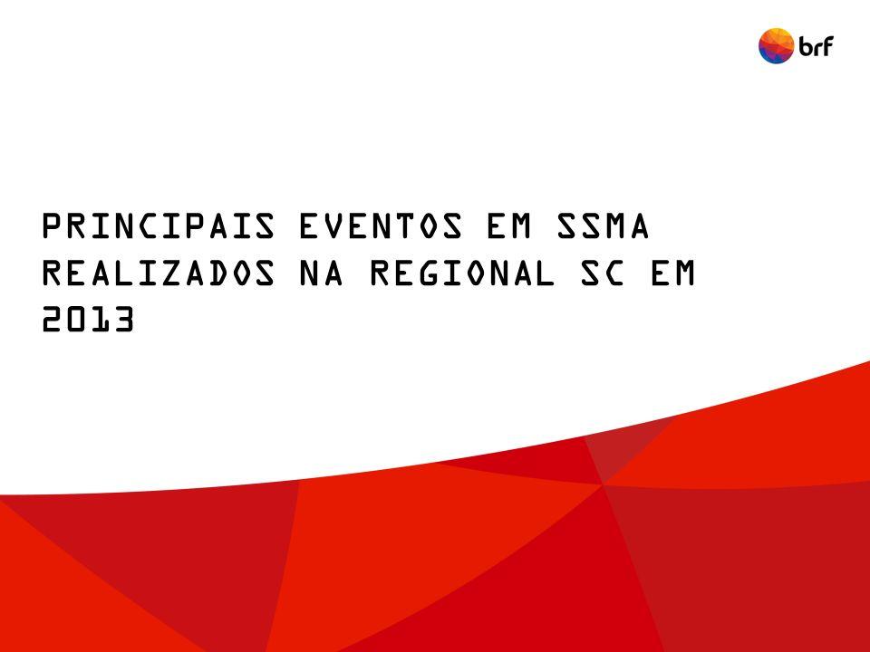 PRINCIPAIS EVENTOS EM SSMA REALIZADOS NA REGIONAL SC EM 2013